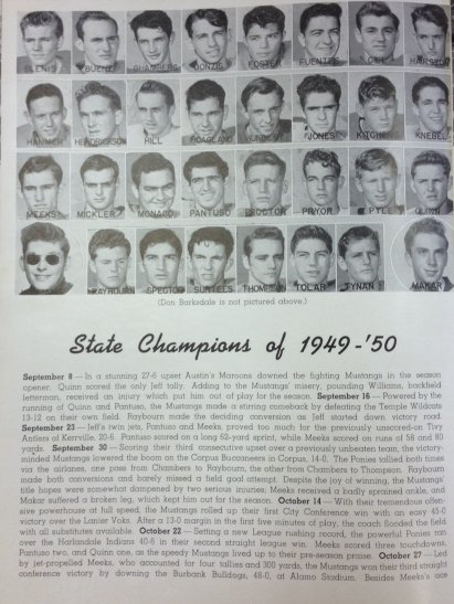 1949 football team in Monticello