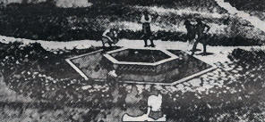 Stylized photo of original fountain
